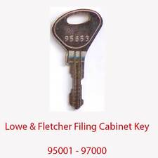 Lowe & Fletcher Replacement Filing Cabinet Key 95001 - 97000
