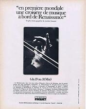 Publicité Advertising 016 1968 Paquet croisière à bord de Renaissance