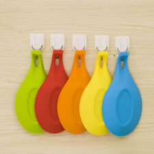 Silicone Spoon Rest Heat Resistant Kitchen Utensil Spatula Holder Cook Tool YF9
