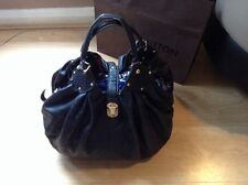 Rare. 100% Genuine. Louis Vuitton Xl Mahina. Noir And Gold Calf Skin. STUNNING