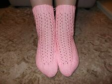 HANDKNITTED LADIES BEDSOCKS - ONE SIZE-VARIOUS COLOURS AVAILABLE