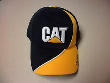 Caterpillar black/yellow ball cap w/ Operator on bill of hat white CAT logo