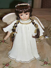 DOLL  PORCELAIN ANGEL INDIAN PRINCESS MAIDEN  WITH WINGS AND SCEPTRE