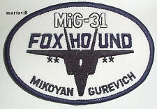 Russian Air Force`MiG 31 FOXHOUND` Cloth Badge / Patch (R9)