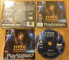 TOMB RAIDER CHRONICLES for SONY PS1, PS2 & PS3 COMPLETE