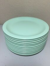 Vtg Dallas Texas Ware Plates Melamine Salad Bread Set Of 12 Jadeite Green 6.5 in