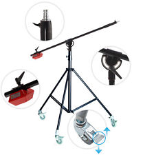 PRO Heavy Duty Boom Arm Stand STAND 4.5kg Counterweight wheels Top quality