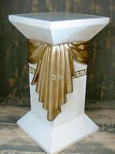 SÄULE mit LICHT aus Stuckgips 55,5 cm hoch goldfarben LAMPEN DESIGN WOHNZIMMER