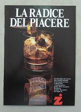 E217 - Advertising Pubblicità - 1986 - RABARBARO ZUCCA LA RADICE DEL PIACERE