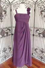 969) BARI JAY 20641 SZ 14  jr junior  EGGPLANT  FORMAL BRIDESMAID PROM dress