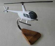 Robinson R44 R-44 Astro Helicopter Wood Model White