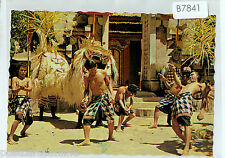 B7841cgt Indonesia Bali Barong and Keris Dance postcard