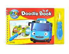 Tayo The Little Bus Doodle Book Drawing with Water Brush Gift Child Toy Fun Play