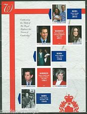 SIERRA LEONE  2013 BIRTH OF PRINCE GEORGE  SHEET  PRINCESS DIANA  IMPERF MINT NH