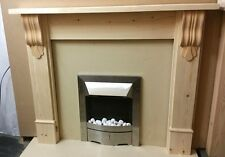 "SOLID PINE ""CHUNKY"" FIRE SURROUND WITH CORBELS fs2"