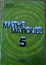 MATHEMATIQUES 5e, Collection IREM, Editions ISTRA