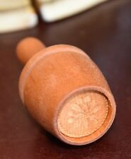 """ANTIQUE VICTORIAN COOKIE PRESS MOLD HAND CARVED FUNCTIONAL CLEAN FLORAL ROUND 1"""""""