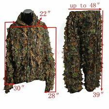 Woodland Sniper Ghillie Suit Kit 3D Leaf Camouflage Camo Jungle Hunting Birding