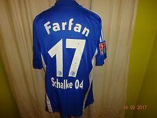 """FC Schalke 04 Original Adidas Heim Trikot 2008/09 """"GAZPROM"""" + Nr.17 Farfan Gr.L"""