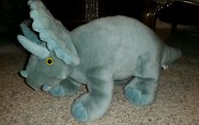 """Walking with the dinosaurs plush grey Triceratops 16"""" NWOT #E3"""