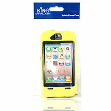 YELLOW HARD Shock Bullet Proof CASE + Screen Protectors for IPHONE 4 4S Safety