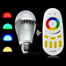 2.4G LED Bulb RF Wireless GU10 RGB White LED Light Touch Remote Control Light Y