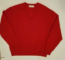 Fairway & Greene Men's V-neck Cashmere Sweater Red Size XXL XXLarge