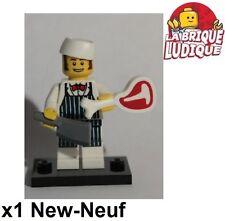 Lego - Figurine Minifig Minifigurine série 6 boucher Butcher charcutier NEUF