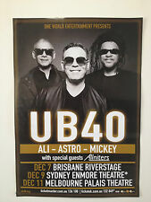 UB40 2014 Australian Tour Poster A2 ALI CAMPBELL ASTRO MICKEY  Silhouette ***NEW