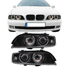 Scheinwerfer Set Angel Eyes BMW 5er E39 Bj. 95-00 inkl. Philips H7+H7+Motoren