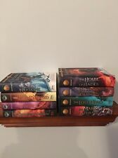 Lot of 8 Hardcover Books by Rick Riordan ~ Kane Chronicles & Heroes of Olympus
