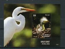 St Vincent & The Grenadines 2015 MNH Great Egret 1v S/S II Birds Egrets