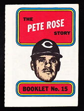 1970 TOPPS STORY BOOKLETS #15 PETE ROSE REDS