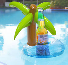 New Unique Floating Palm Island Inflatable Drink Can Holder Pool Bath Toys Party