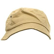 Unisex 100% Cotton Gilligan Bucket Crusher Foldable Crushable Hat Cap Khaki L/XL