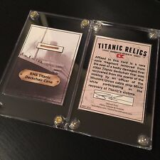 White Star Line RMS Titanic Shipwreck Deck Chair Cane Artifact Trading Card