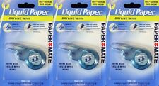 Pack 3 Paper Mate Liquid Paper Dryline Mini Correction Tape Each 5mm x 5m NEW