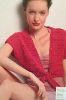 Ladies Tie Front Bolero Crochet Pattern ( S, M, L, XL,  )