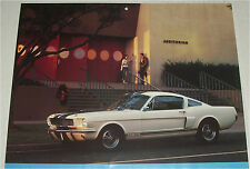 1966 Ford Shelby Mustang GT 350 Fastback car print (blue & white)