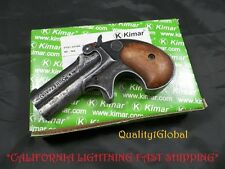 CF METAL Replica M1866 Antiqued Finish Double Barrel Derringer MOVIE PROP Gun