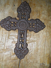 Cast Iron Victorian Style RELIGIOUS CROSS  Rustic Ranch Western Decor #10