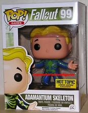 FUNKO POP GAMES FALLOUT ADAMANTIUM SKELETON #99 Hot Topic Chase Mystery IN STOCK
