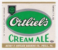 Ortlieb's Cream Ale Label