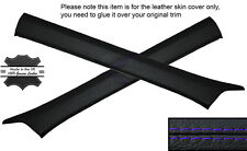 PURPLE STITCH 2X A POST PILLAR SKIN COVERS FITS MERCEDES W124 E CLASS 83-95