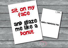 Personalised Funny Rude Adult Donut Card Birthday Or Valentines Day Card A5
