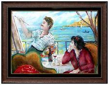 ROBERT PHILIPP Rare ORIGINAL Painting Signed Artwork Female Portrait Framed SBO