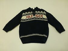 Tommy Hilfiger Baby Boys Size 18M Blue Zip Neck Sweater Great Condition
