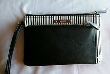 Nine West black and white wristlet / small clutch NWT ZIP POUCH