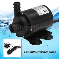 Quiet DC 12V Mini Submersible Brushless Hot Heater Water Motor Pump 2.2M 280L/H