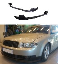 FOR 02-05 AUDI A4 B6 EURO STYLE PU BLACK ADD-ON FRONT BUMPER LIP SPOILER CHIN